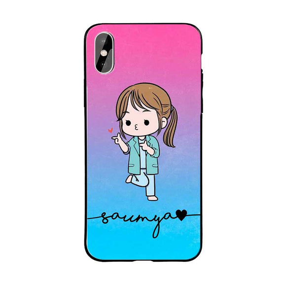 Blue Pink Cute Girl Name Protective Case