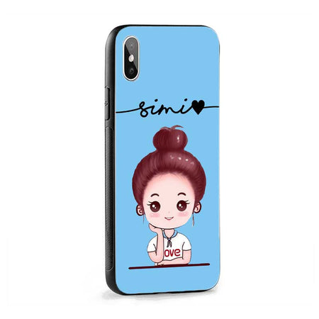 Blue Cute Girl Name Protective Case