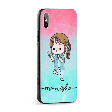 Green Red Cute Girl Name Protective Case