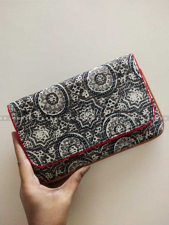 Ikat Clutches with Dark Ikat Design