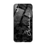 Glass Case With Black Grey Camouflage Name