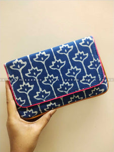 Ikat Clutches with Blue Ikat Design