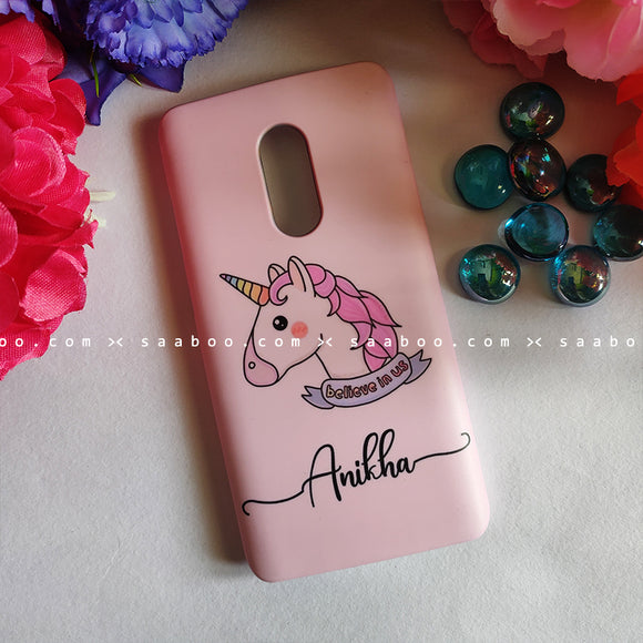 Case - saaboo - Unicorn Pink With Name Case