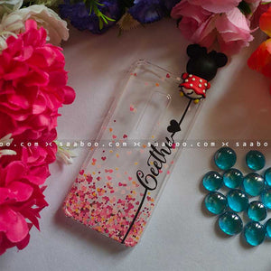 Minnie Toy Transparent silicone case with Stylish Name