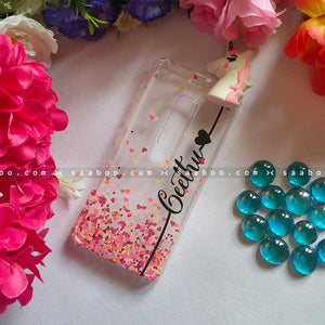 Unicorn Toy Transparent silicone case with Stylish Name