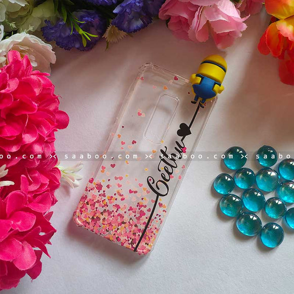 Minion Toy Transparent silicone case with Stylish Name