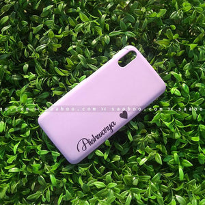 Case - saaboo - Mobile Case with Lavender and Name Print