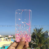 Silicone Case - saaboo - Transparent Silicone case with Pink Name