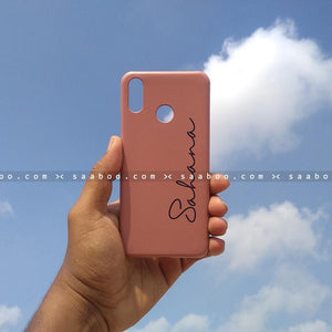 Case - saaboo - Mobile Case with Brown and Name Print