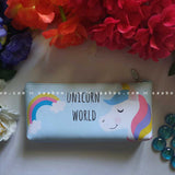 Unicorn Blue Pen Pouch