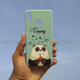 Case - saaboo - Mobile Case with Panda Drink Blue and Name Print