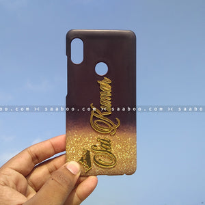 4D Case - saaboo - 4D Case Black with Small Glitter And Name