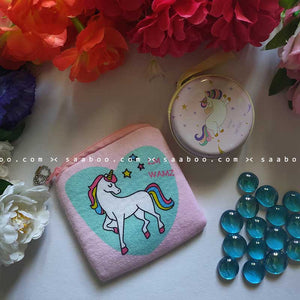 Walking Unicorn Metal and Coin Pouch