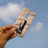 4D Case - saaboo - 4D Case White Marble with Name