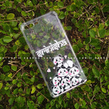 Silicone Case - saaboo - Transparent Silicone case Pandas with Name