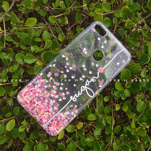 Silicone Case - saaboo - Transparent Silicone case With White Name and Red Heart