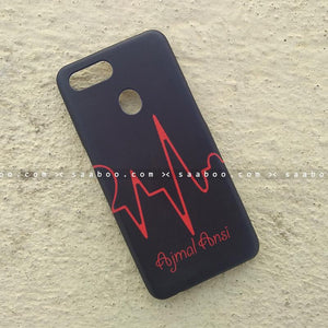 Case - saaboo - Mobile Case with Half Heart Beat and Name Print