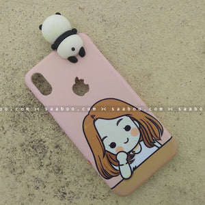 Toy Case - saaboo - Panda Toy and Love Girl Name
