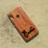 4D Case - saaboo - 4D Case Wooden with Name at Bottom