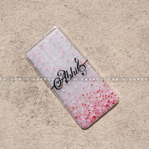 Silicone Case - saaboo - Transparent Silicone Case with Name Music Symbol
