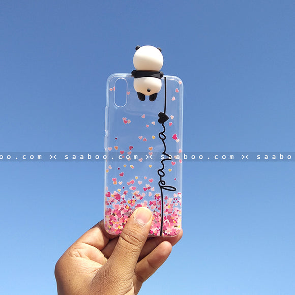 Toy Case - saaboo - Panda Toy Transparent silicone case with Name
