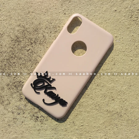 4D Case - saaboo - 4D Case Pink with Name at Bottom
