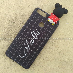 Toy Case - saaboo - Minnie Toy and Black Checked Name Case