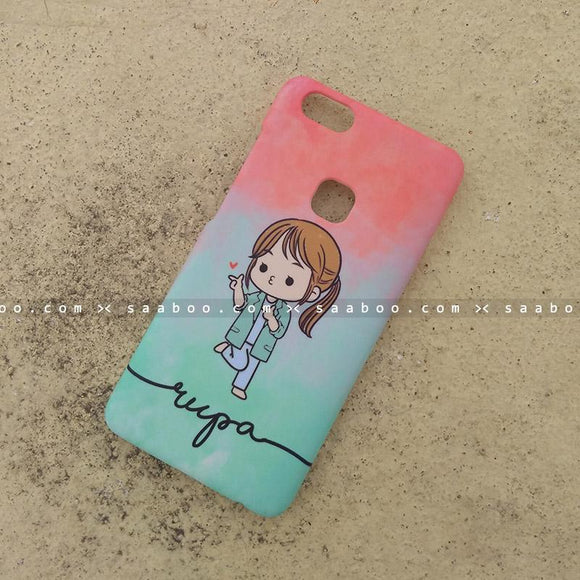 Case - saaboo - Mobile Case with Happy Girl and Wave Name Print
