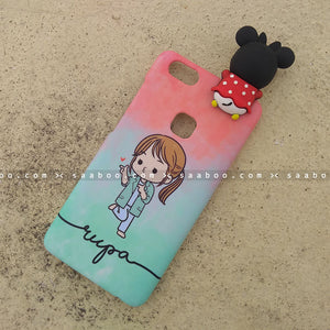 Toy Case - saaboo - Minnie Toy and Cute Girl Wave Name