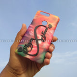 4D Case - saaboo - 4D Case Colorful Feathers with Infinity Name