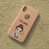 Case - saaboo - Mobile Case with Peach Cool Girl and Name Print