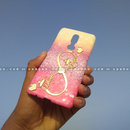 4D Case - saaboo - 4D Case Different Color Glitter with Name