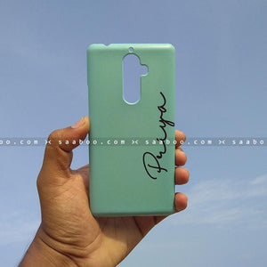 Case - saaboo - Mobile Case with Sky Blue and Name Print