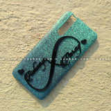 4D Case - saaboo - 4D Case Sky Blue Glitter with Infinity Name