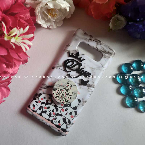 Customized 4D Name Pandas in Marble Gripper Case