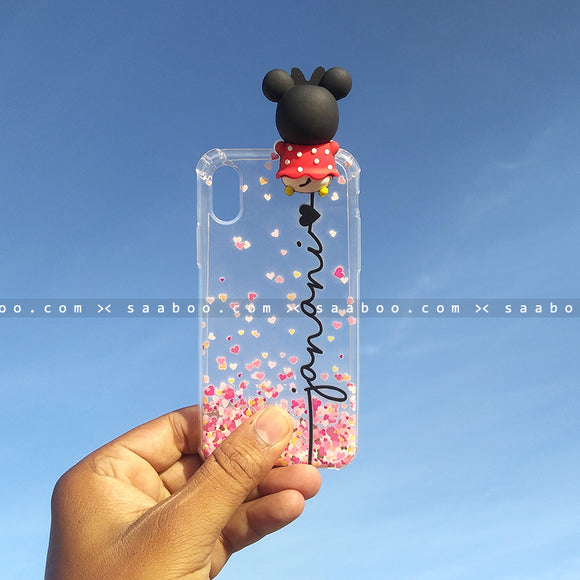 Toy Case - saaboo - Minnie Toy Transparent silicone case with Name