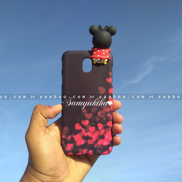 Toy Case - saaboo - Minnie Toy and Black Red Heart Name Case