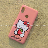 Case - saaboo - Mobile Case with Pink Kitty and Name Print