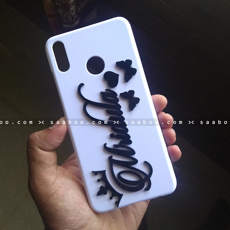 4D Case - saaboo - 4D White Case with Name and Butterfly