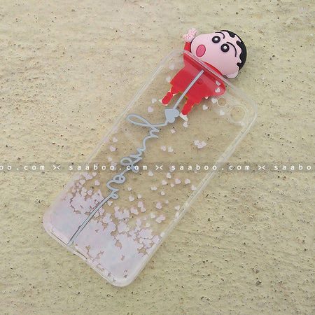 Toy Case - saaboo - Shinchan Toy Transparent silicone case with Name