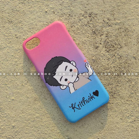 Case - saaboo - Mobile Case with Cute Boy and Name Print