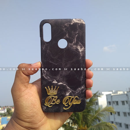 4D Case - saaboo - 4D Black Marble with Name