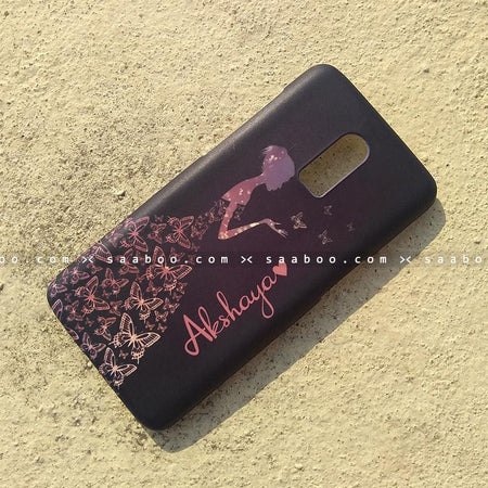 Case - saaboo - Mobile Case with Butterfly Girl and Name Print