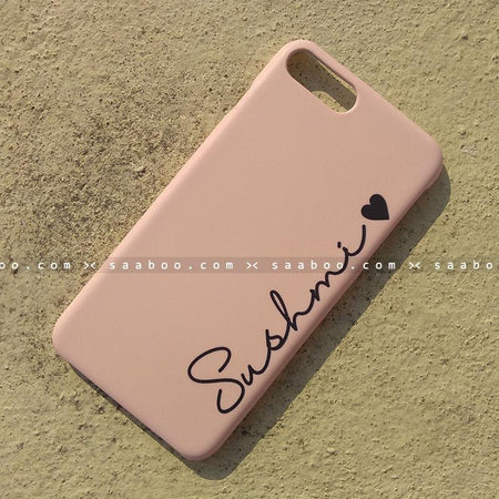 Case - saaboo - Mobile Case with Pink and Name Print