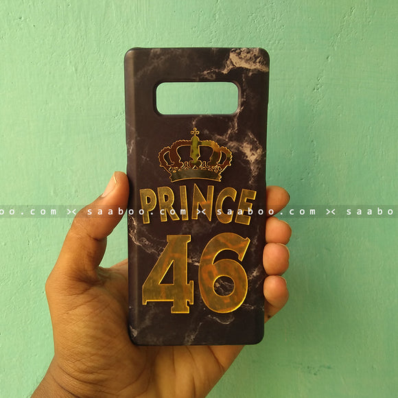 4D Case - saaboo - 4D Black Marble with Name and Number