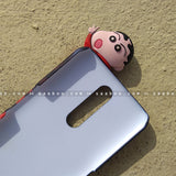 Toy Case - saaboo - Shinchan Toy and Black Red Hearts Name Heart Case