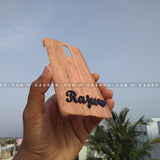 4D Case - saaboo - 4D Case Wooden with Name and Heart at Bottom