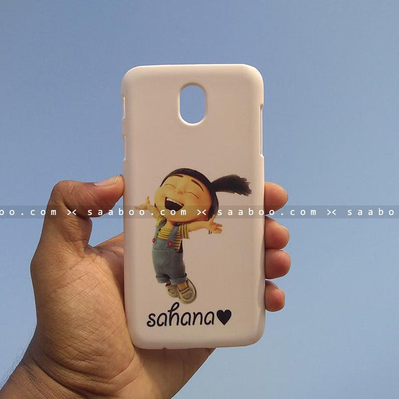 Case - saaboo - Mobile Case with Jump Girl and Name Print