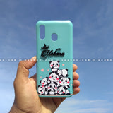 4D Case - saaboo - 4D Case Sky Blue Pandas with Name