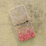 Silicone Case - saaboo - Transparent Silicone case with Portrait Name and hearts
